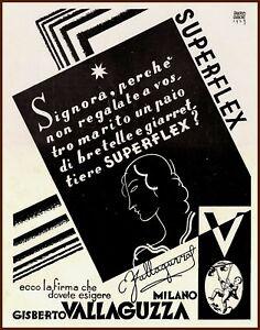 ADVERTISING POSTER - CINTURA ASTUCCIO VALLAGUZZA - 1930