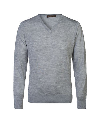 V-neck in cashmere-silk