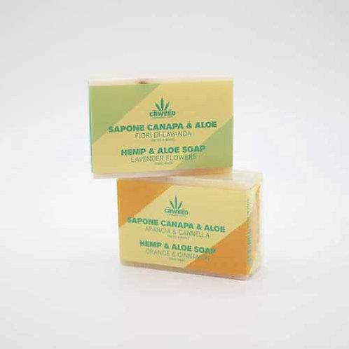 Hemp, orange and cinnamon soaps