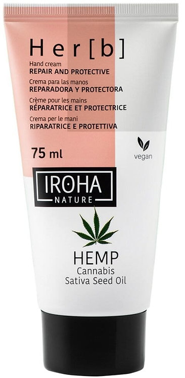 Hand and nail cream with hemp seed oil