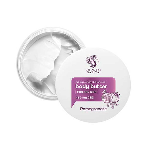 CBD Pomegranate body butter for dry skin