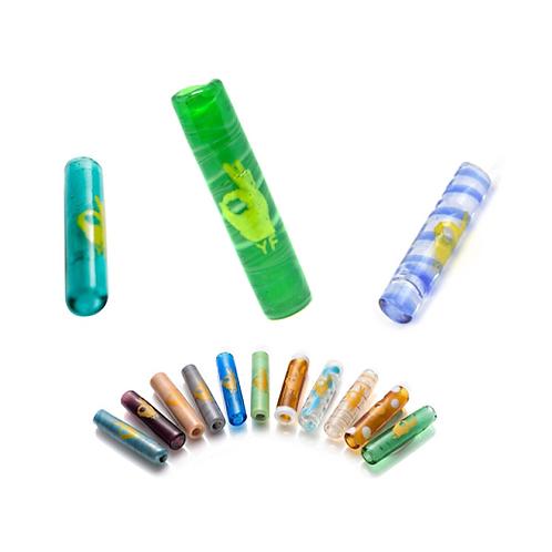Murano Yellow Finger Glass Cigarette Holders