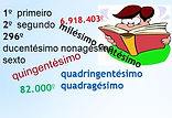 Atividades Números Ordinais - Ensino Fundamental