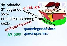 Atividades elvolvendo números ordinais - Matemática - Ensino Fundamental