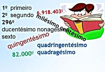Atividades escolres - Números ordinais - Matemática - Ensino Fundamental - Educação