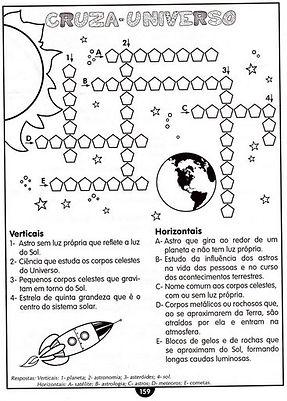 Atividades escolares - Ciências - Cruzadinha