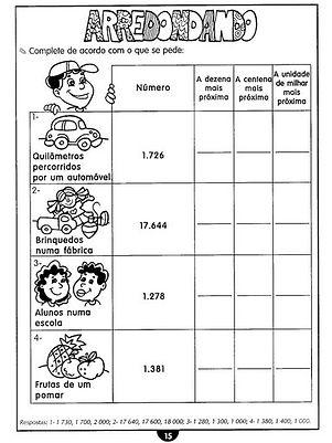 Atividades escolares - Atividades de Reforço