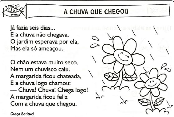 TEXTO A CHUVA QUE CHEGOU