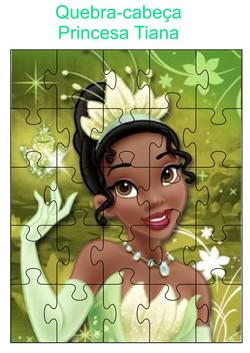 Quebra-cabeça princesa Tiana