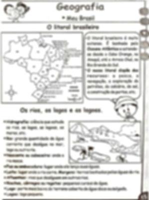 Atividades escolares - Geografia 3º, 4º e 5º ano - Ensino Fundamental