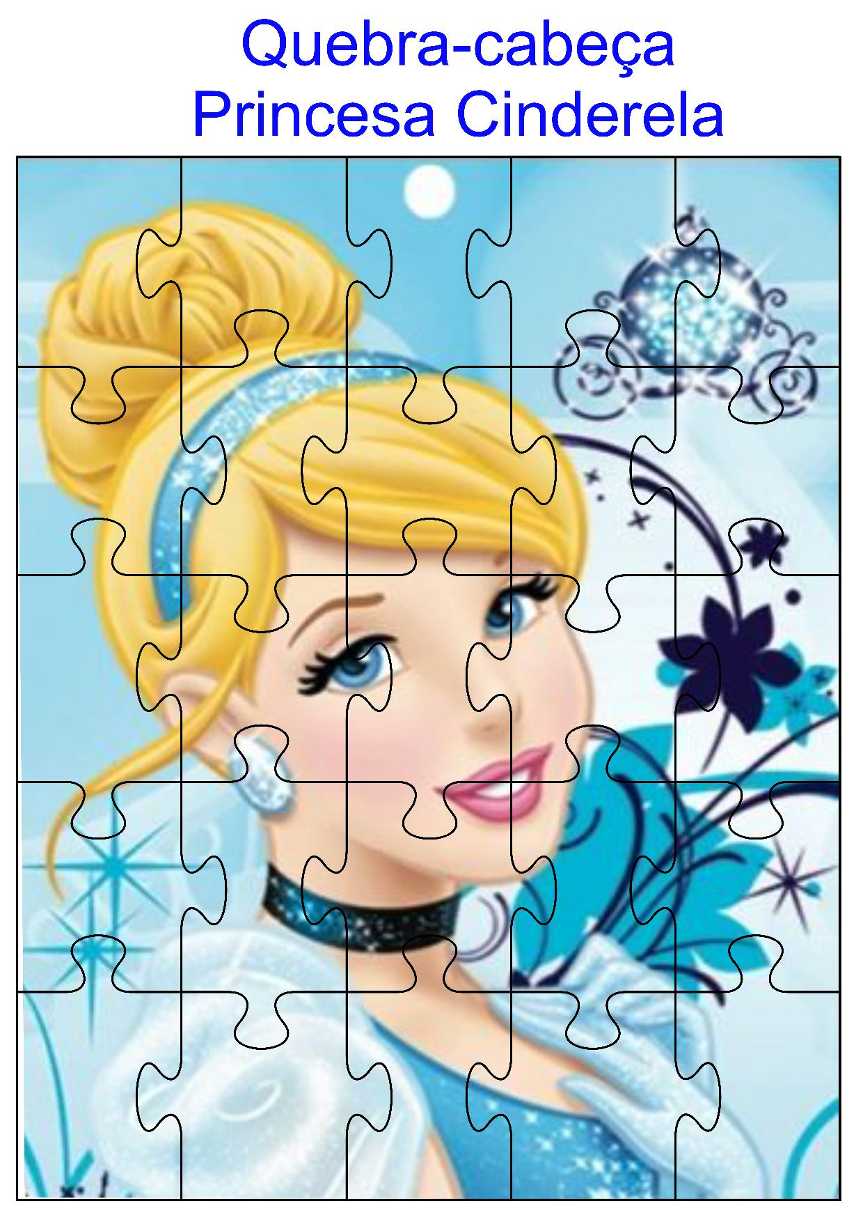 Quebra-cabeça princesa Cinderela
