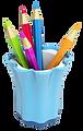Porta lápis - fundo transparente