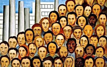 Dia do Trabalho - 1º de Maio - Quadro de Tarsila do Amaral - Oparários