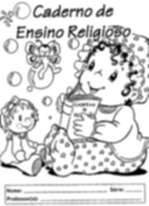 Atividades escolares - Ensino Religioso - Capa caderno Ensino Religioso- png