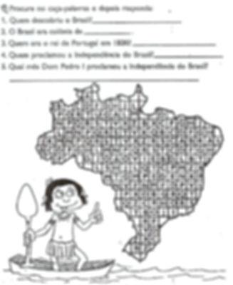 Atividades escolares - História - 4º e 5º ano - png