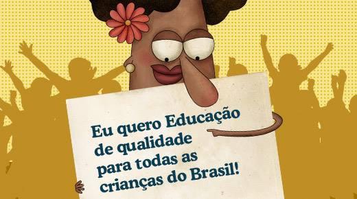 Eu quero Educação de qualidade - png