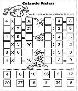 Atividade de multiplicação e divisão
