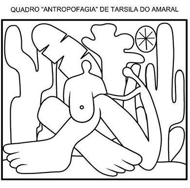 Atividades escolares - Artes visuais - Tarsila do Amaral - Antropofagia - png
