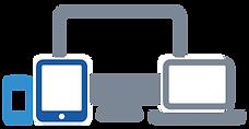 Vetor computador, tablet, leptop e celular
