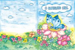 capa a borboleta azul