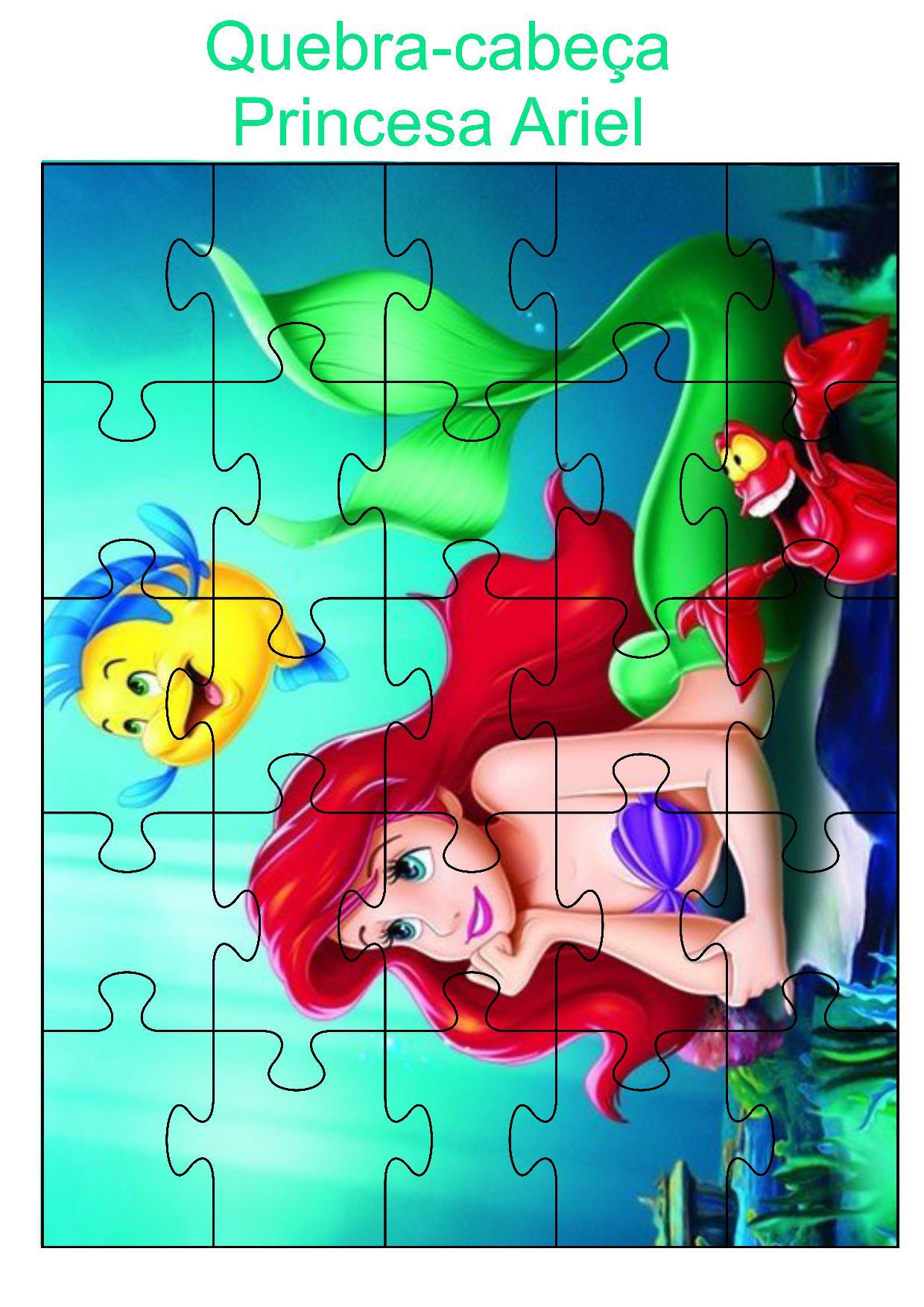 Quebra-cabeça princesa Ariel