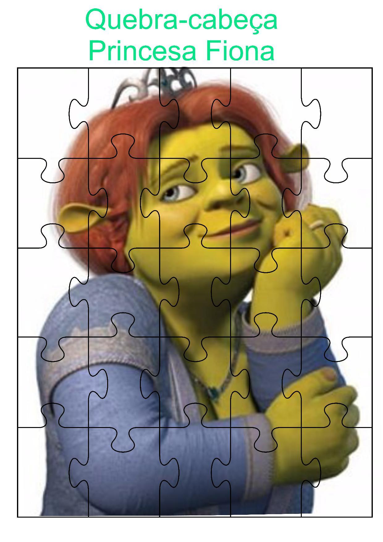 Quebra-cabeça princesa Fiona