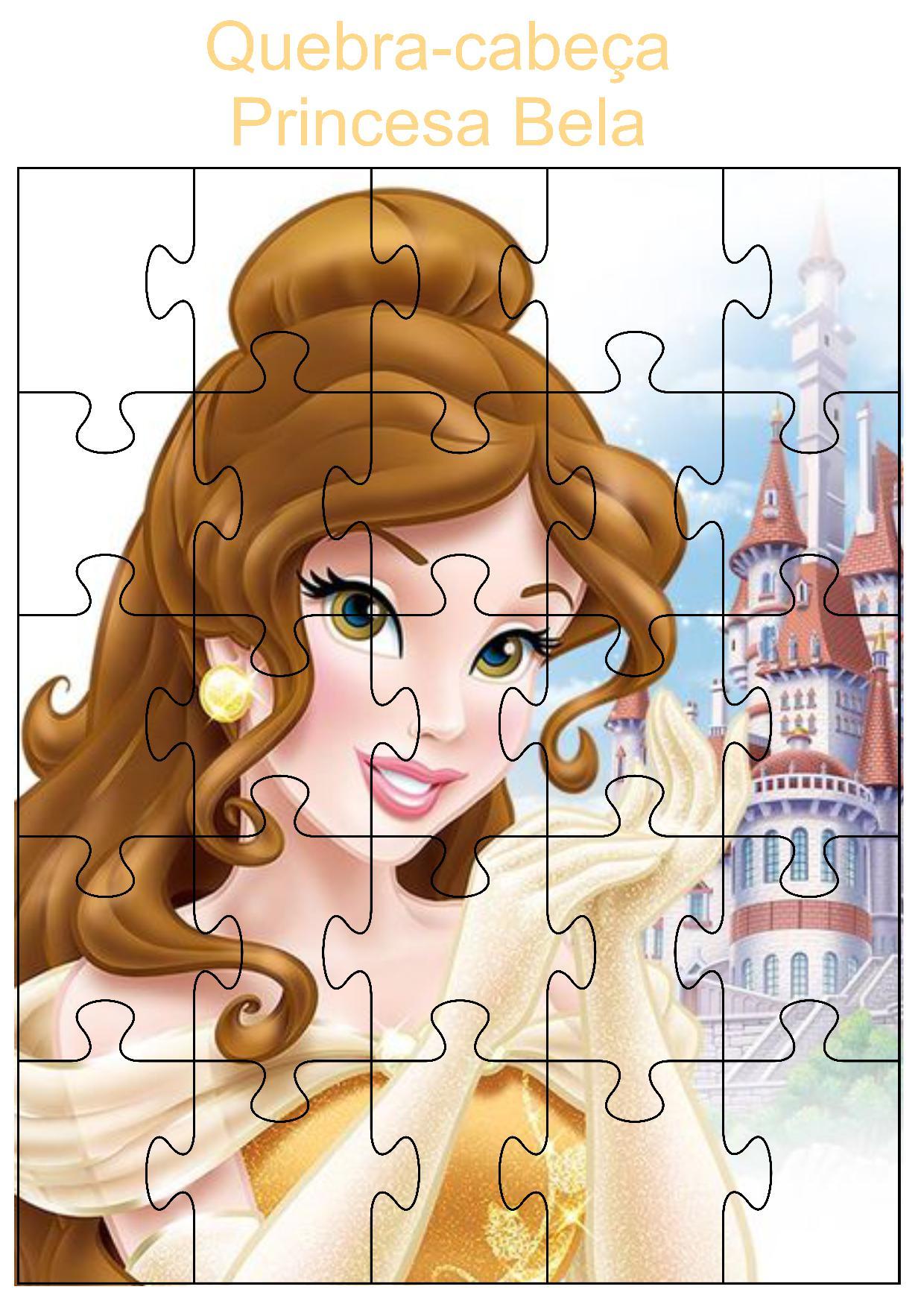 Quebra-cabeça princesa Bela