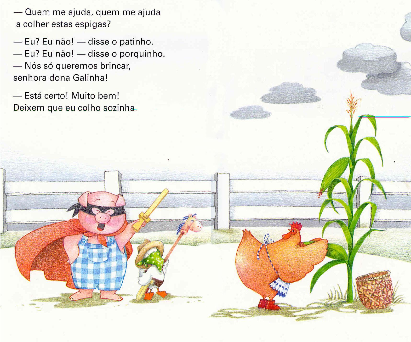lIivro A galinha ruiva-9-10