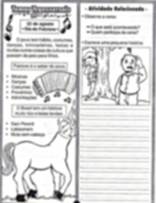 Atividades escolares - Folclore Brasileiro- png