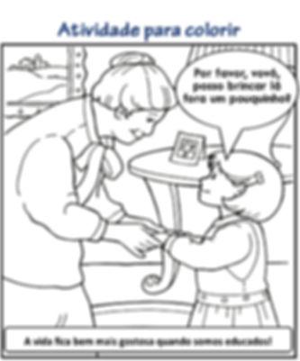 Atividades escolares para colorir- Ensino Religiosos