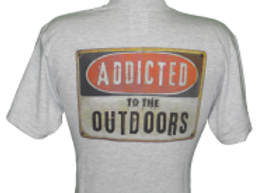 Men's Addicted to the Outdoors Logo Tee (Gray)