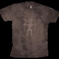 Men's Primitive Wear Logo Tee (Brown Mineral Wash)