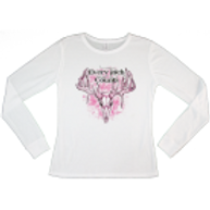 """Women's """"Every Inch Counts"""" Thermal (White/Pink)"""
