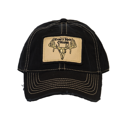"""Every Inch Counts"" Patch Hat (Black/Tan)"