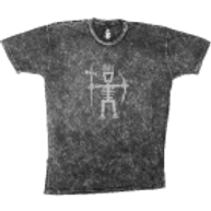 Men's Primitive Wear Logo Tee (Black Mineral Wash)