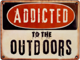 Addicted to the Outdoors Logo Sticker