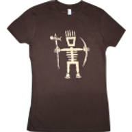 Women's Primitive Wear Logo Tee (Brown/Cream)