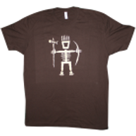 Men's Primitive Wear Logo Tee (Brown/Cream)