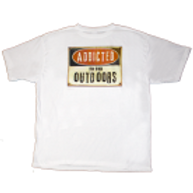 Men's Addicted to the Outdoors Logo Tee (White)
