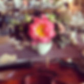 violin and flowers dining