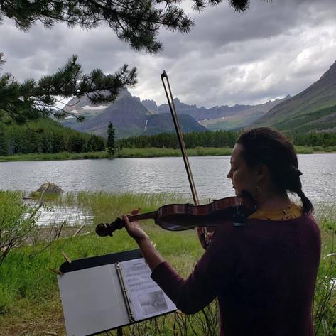 Amelia serenades Glacier National Park