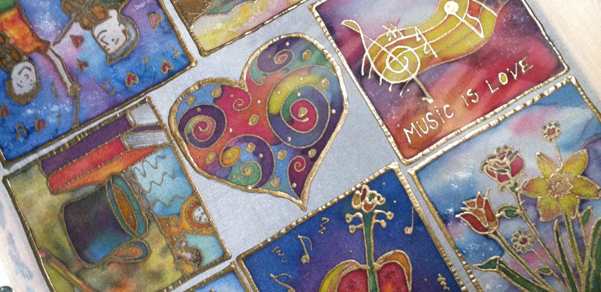 Silk Greeting Card Designs