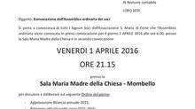 Convocazione Assemblea Ordinaria dei Soci 2016