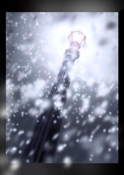 Un Lampadaire sous la neige