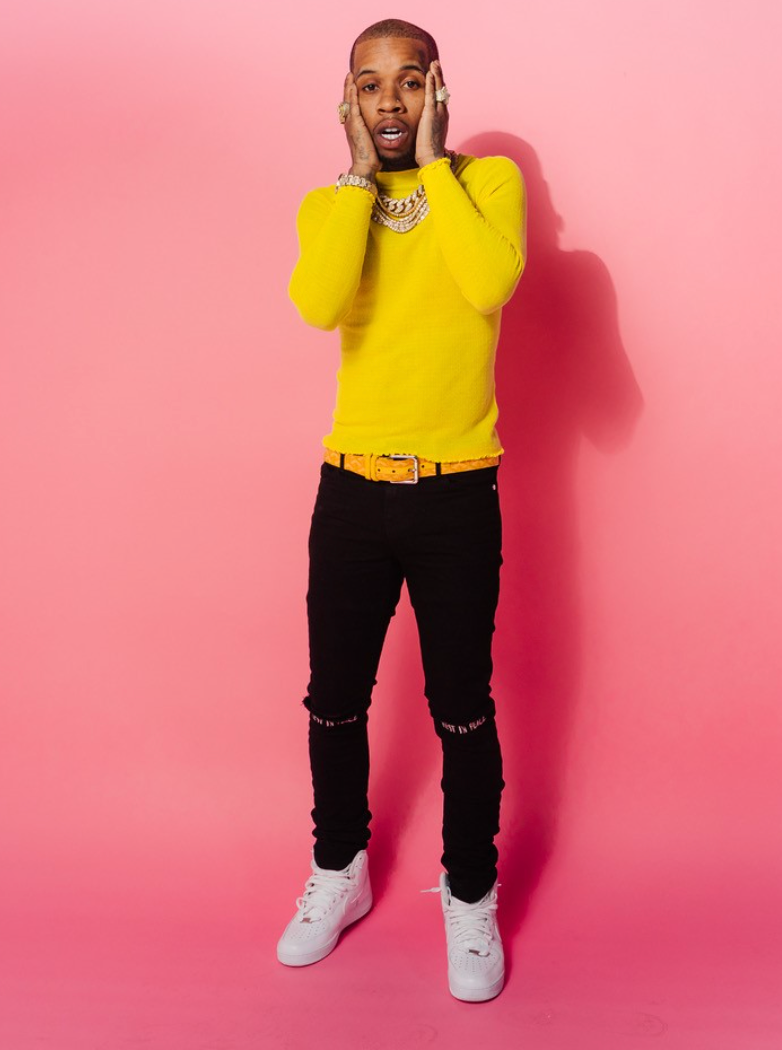 Tory Lanez with Pink background
