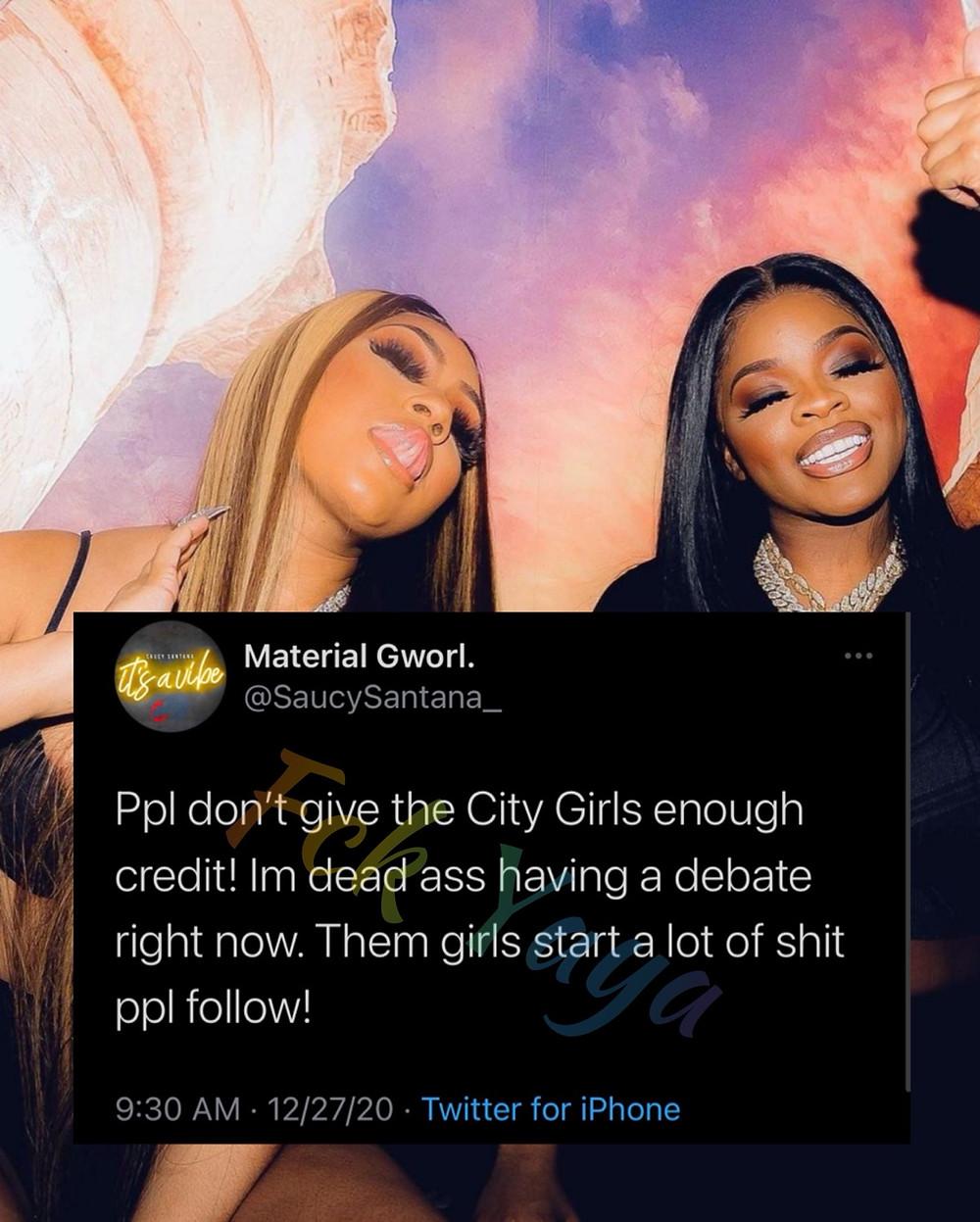 Saucy Santana says the City Girls Don't Get enough credit