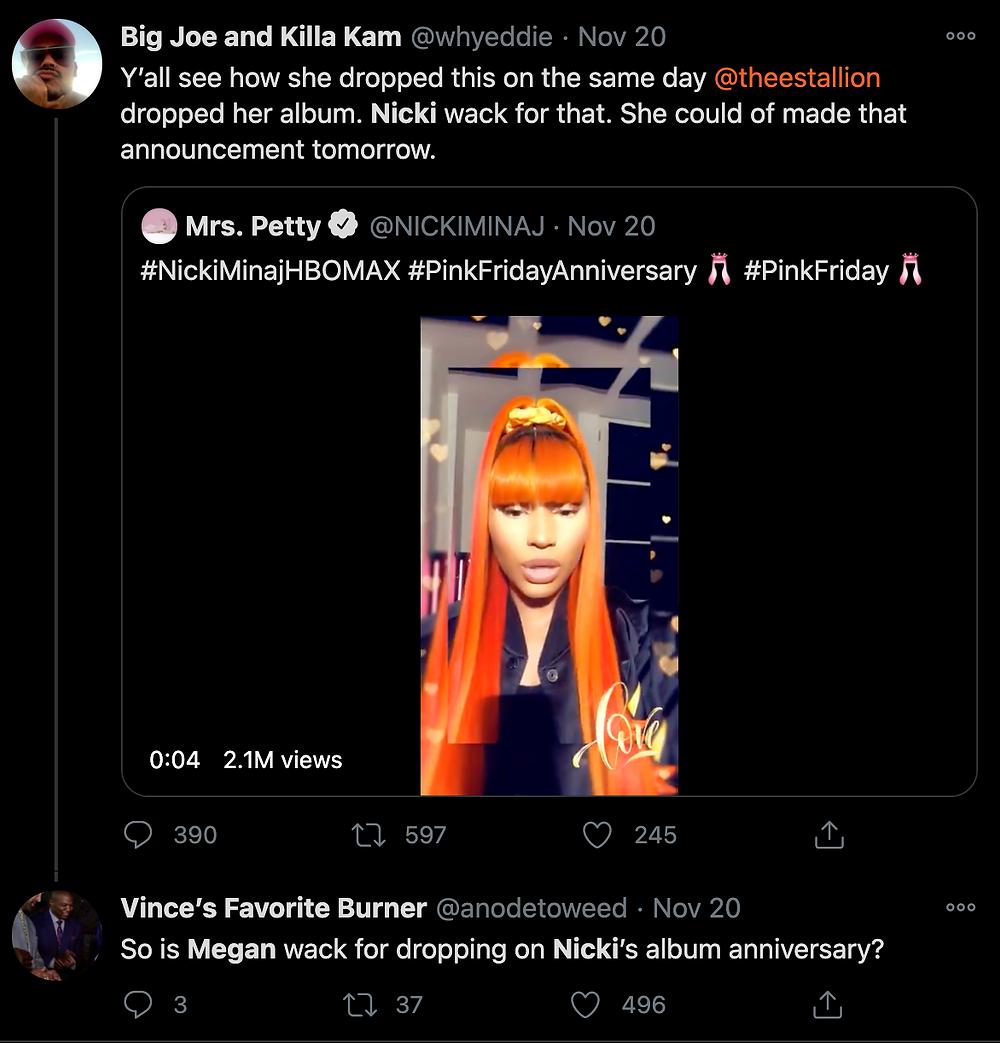 Stans start fight between Nicki Minaj and Megan Thee Stallion