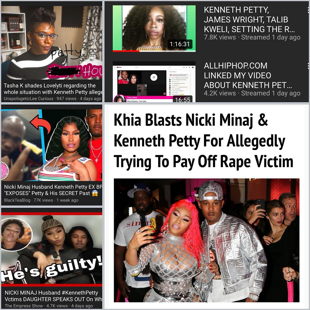 Kenneht Petty and Nicki Minaj accused of pay off victim in rape allegation