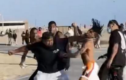 NLE Choppa fight at beach