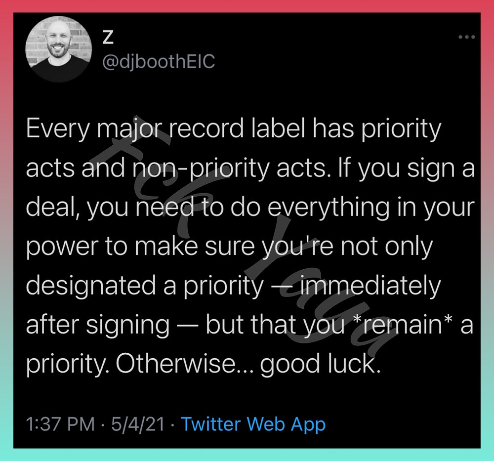 Priority artists at record labels. Is Nicki Minaj a priority? Is Cardi B a priority at Atlantic records? Is Megan Thee Stallion a priority?